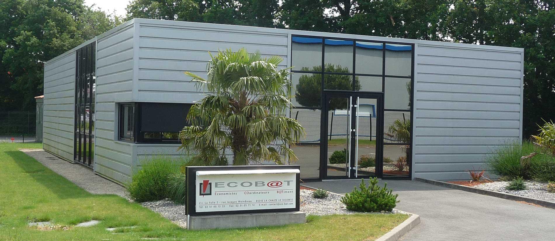 Batiment ECOBAT Siège sociale à la La Chaize-le-Vicomte en Vendée